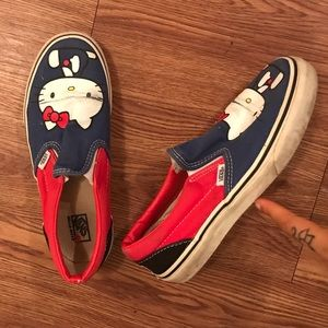 Hello Kitty Vans Sneakers Shoes Size 4